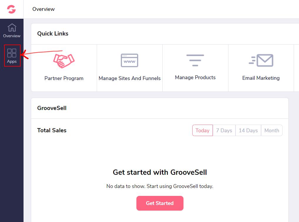 GrooveFunnels affiliate program dashboard1